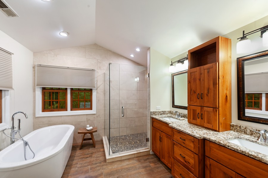 Real Estate Photography - 2415 Colby Drive, McHenry, IL, 60050 - Master Bathroom