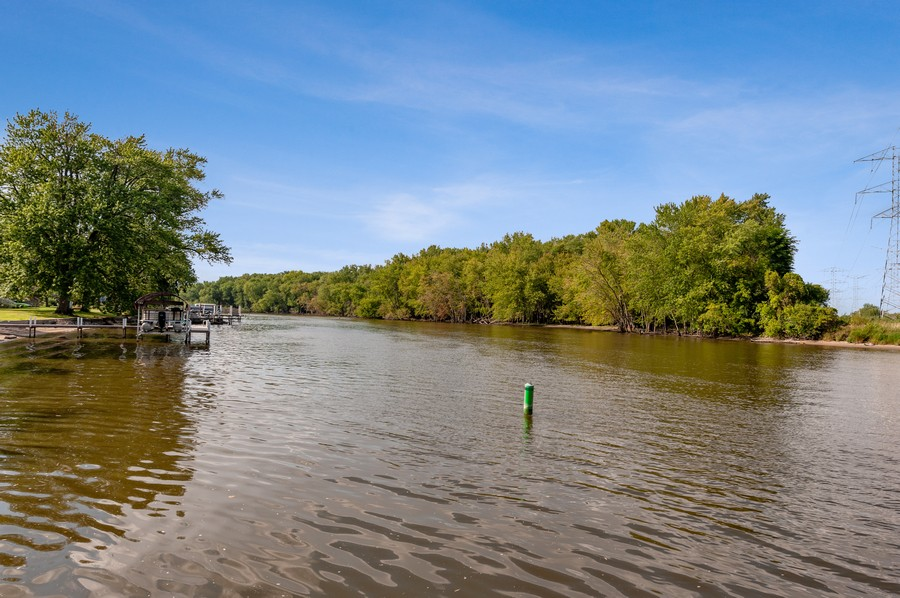 Real Estate Photography - 2415 Colby Drive, McHenry, IL, 60050 - River View from HOA Pier