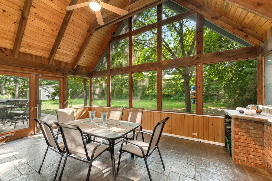 Real Estate Photography - 2415 Colby Drive, McHenry, IL, 60050 - Screened Porch overlooking back yard and additiona