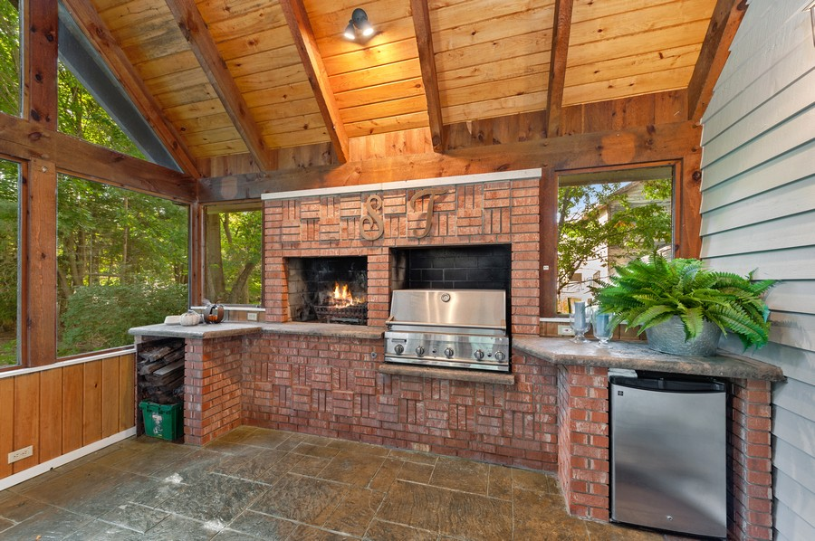 Real Estate Photography - 2415 Colby Drive, McHenry, IL, 60050 - Screened porch amenities