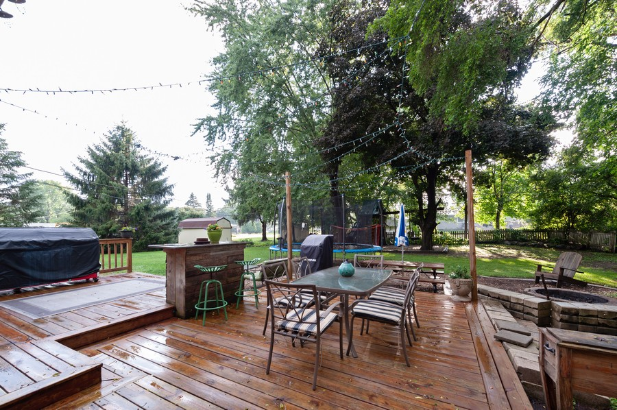 Real Estate Photography - 4705 Gregory St, Johnsburg, IL, 60051 - Deck