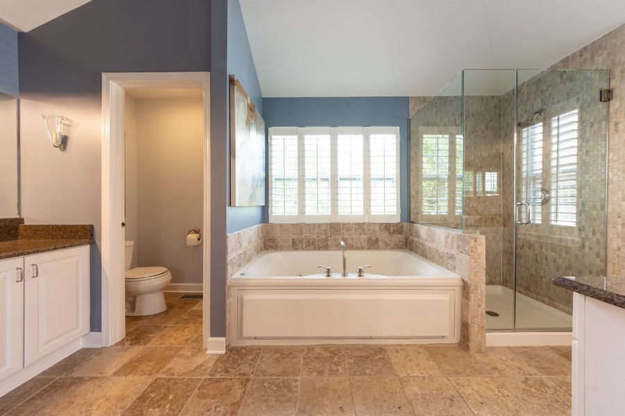 Real Estate Photography - 5610 Highland, Palatine, IL, 60067 - Master Bathroom
