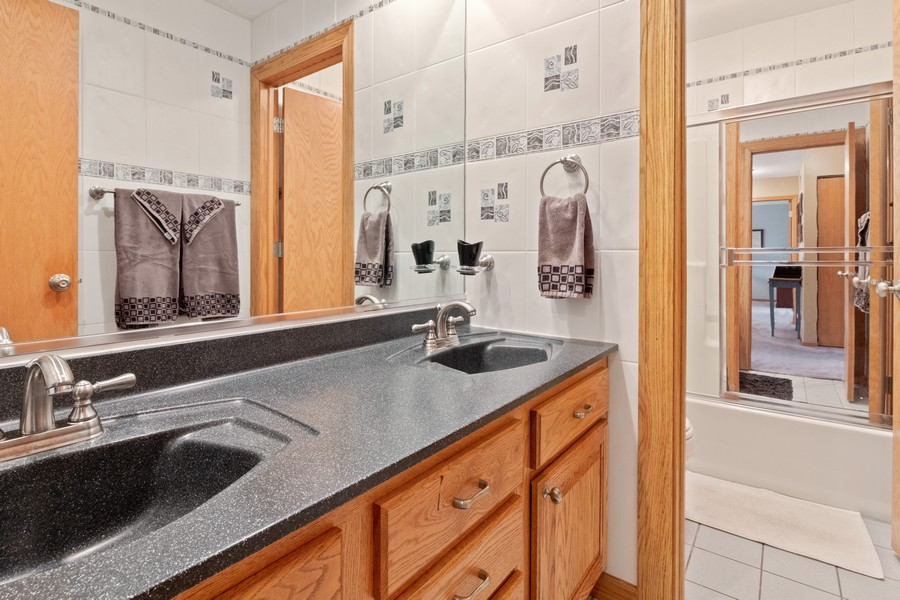 Real Estate Photography - 703 Silver Glen, McHenry, IL, 60050 - 3rd Bathroom