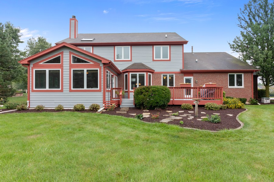 Real Estate Photography - 703 Silver Glen, McHenry, IL, 60050 - Rear View