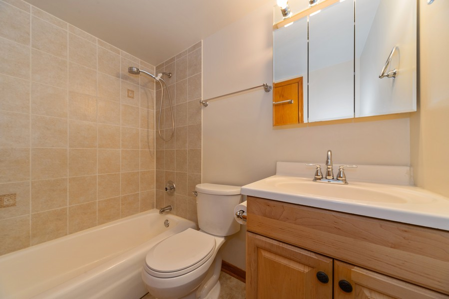 Real Estate Photography - 4600 Cumberland, Unit 409, Chicago, IL, 60656 - Bathroom