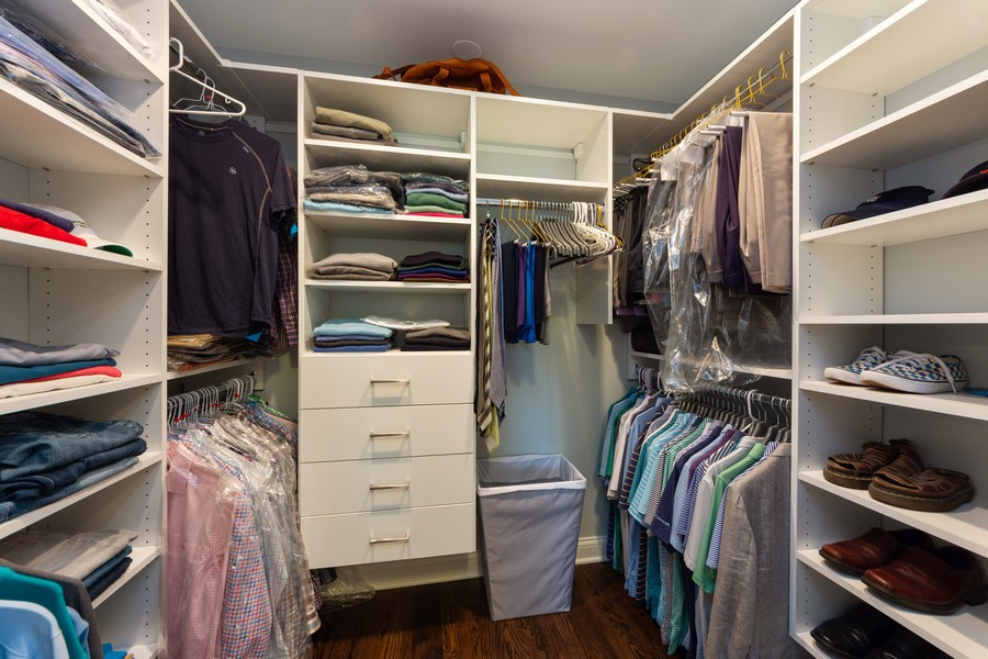 Real Estate Photography - 1611 N Douglas Ave, Arlington Heights, IL, 60004 - Master Bedroom Closet