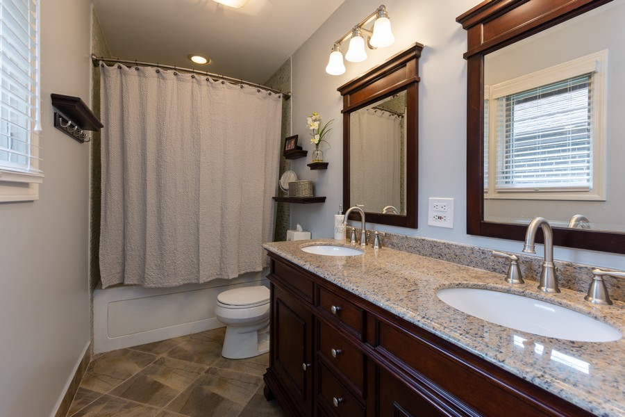 Real Estate Photography - 1611 N Douglas Ave, Arlington Heights, IL, 60004 - 2nd Bathroom