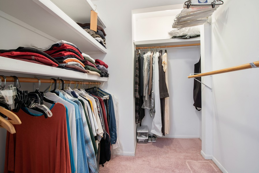 Real Estate Photography - 26582 W Stonegate, Antioch, IL, 60002 - Master Bedroom Closet