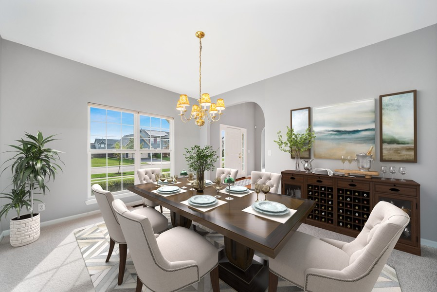 Real Estate Photography - 1361 Boxwood Drive, Crystal Lake, IL, 60014 - Dining Room