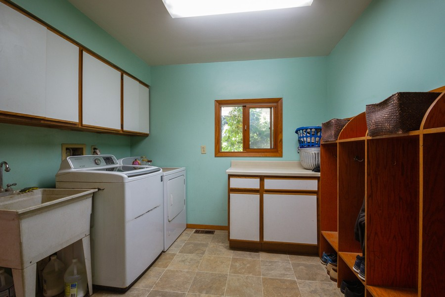 Real Estate Photography - 6191 Shattuck, Belvidere, IL, 61008 - Laundry Room