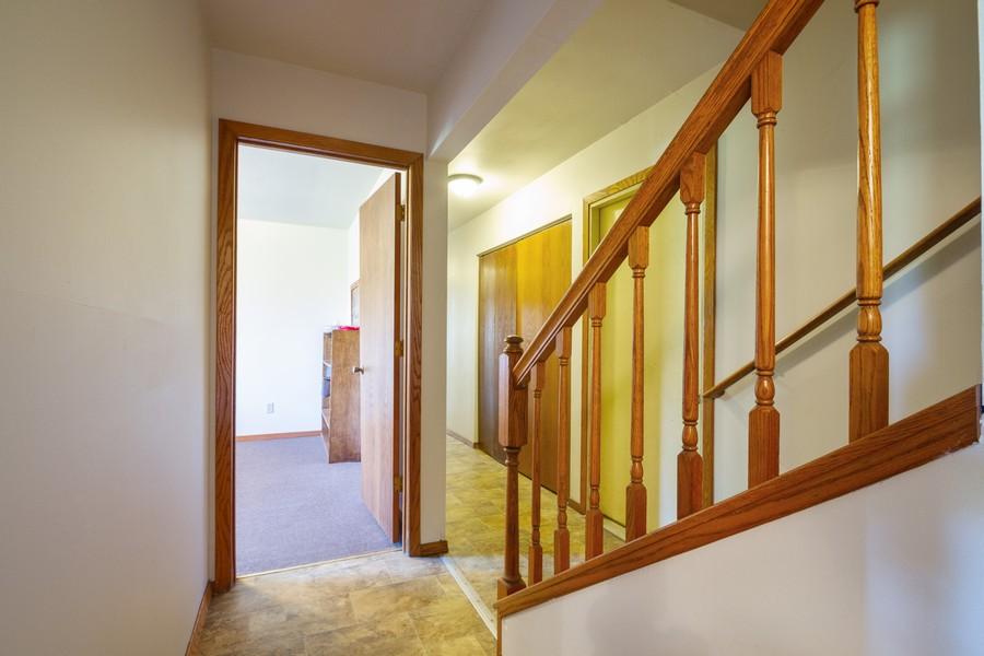 Real Estate Photography - 6191 Shattuck, Belvidere, IL, 61008 - Staircase to English Basement