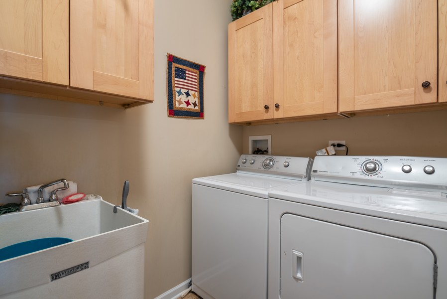 Real Estate Photography - 1031 Broadmoor, Elgin, IL, 60124 - Laundry Room