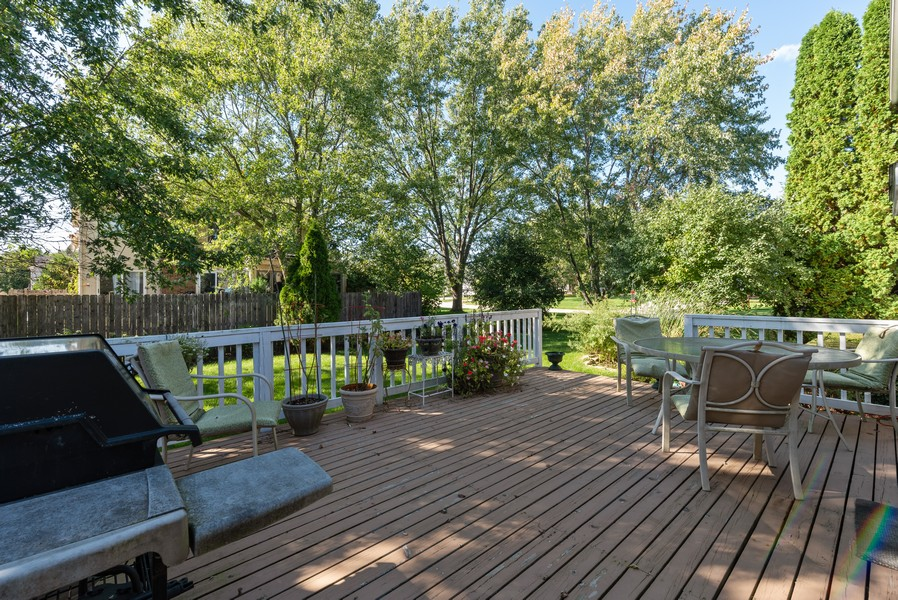 Real Estate Photography - 980 Ridgewood, Crystal Lake, IL, 60014 - Deck
