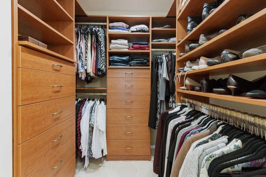 Real Estate Photography - 603 Thistle Lane, Prospect Heights, IL, 60070 - Master Bedroom Closet