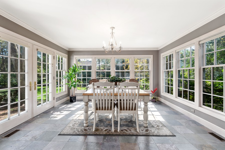 Real Estate Photography - 444 Crystal Court, Village Of Lakewood, IL, 60014 - Sunroom