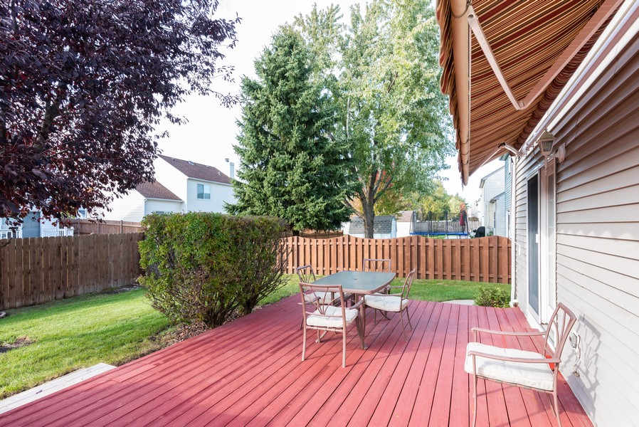 Real Estate Photography - 430 Summersweet Lane, Bartlett, IL, 60103 - Rear Deck