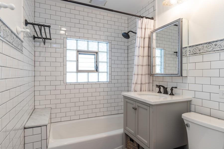 Real Estate Photography - 3113 Maple Avenue, Berwyn, IL, 60402 - Bathroom
