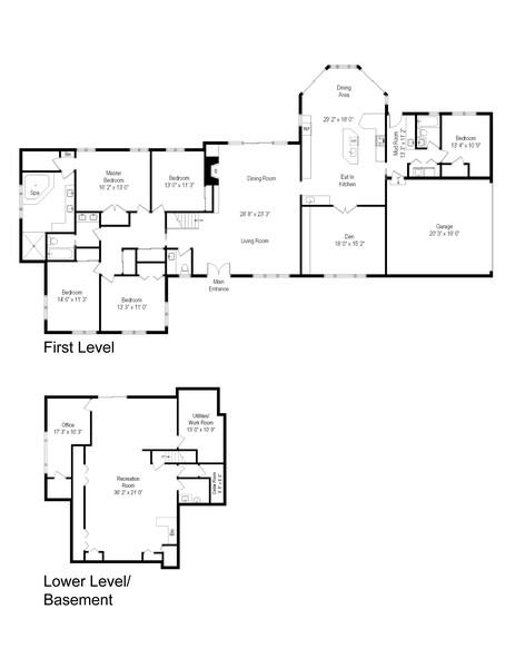 Real Estate Photography - 16 Fairbanks blvd, Woodbury, NY, 11797 - Floor Plan