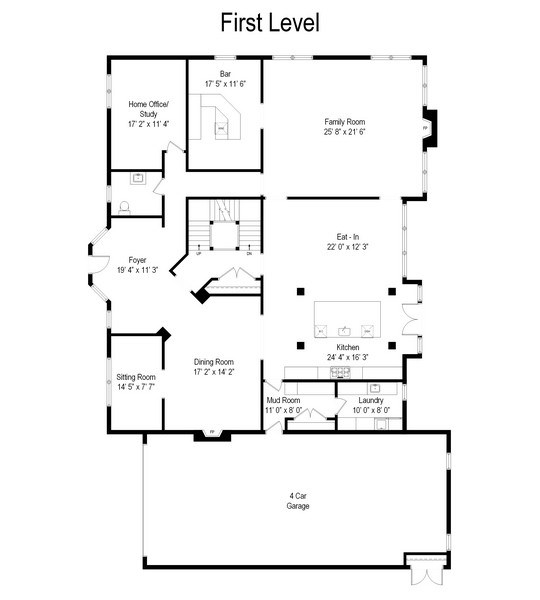 Real Estate Photography - 421 E Orchard, Arlington Heights, IL, 60005 - Floor Plan