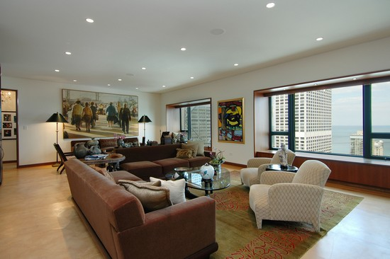 Real Estate Photography - 800 N Michigan, 4001, Chicago, IL, 60611 - Living Room