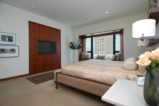Real Estate Photography - 800 N Michigan, 4001, Chicago, IL, 60611 - Master Bedroom