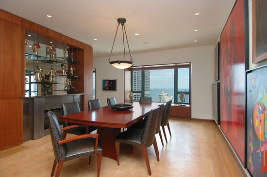 Real Estate Photography - 800 N Michigan, 4001, Chicago, IL, 60611 - Dining Room