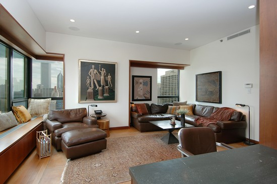 Real Estate Photography - 800 N Michigan, 4001, Chicago, IL, 60611 - Family Room