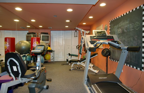 Real Estate Photography - 254 Red Oak Ln, Highland Park, IL, 60035 - Exercise Room