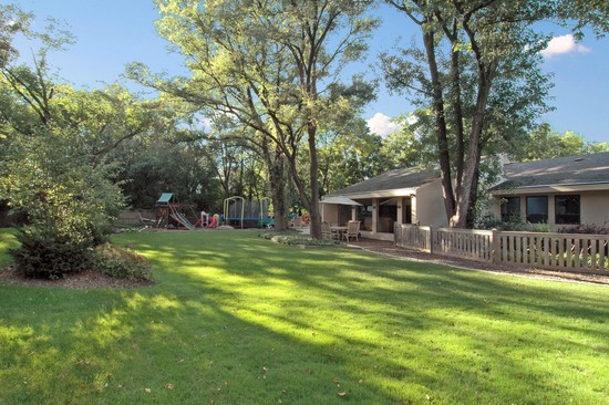 Real Estate Photography - 254 Red Oak Ln, Highland Park, IL, 60035 - Rear View