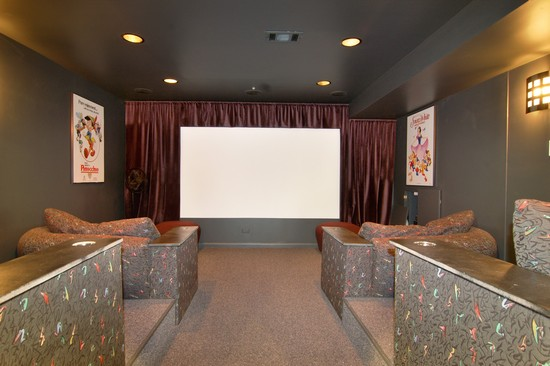 Real Estate Photography - 254 Red Oak Ln, Highland Park, IL, 60035 - Theater