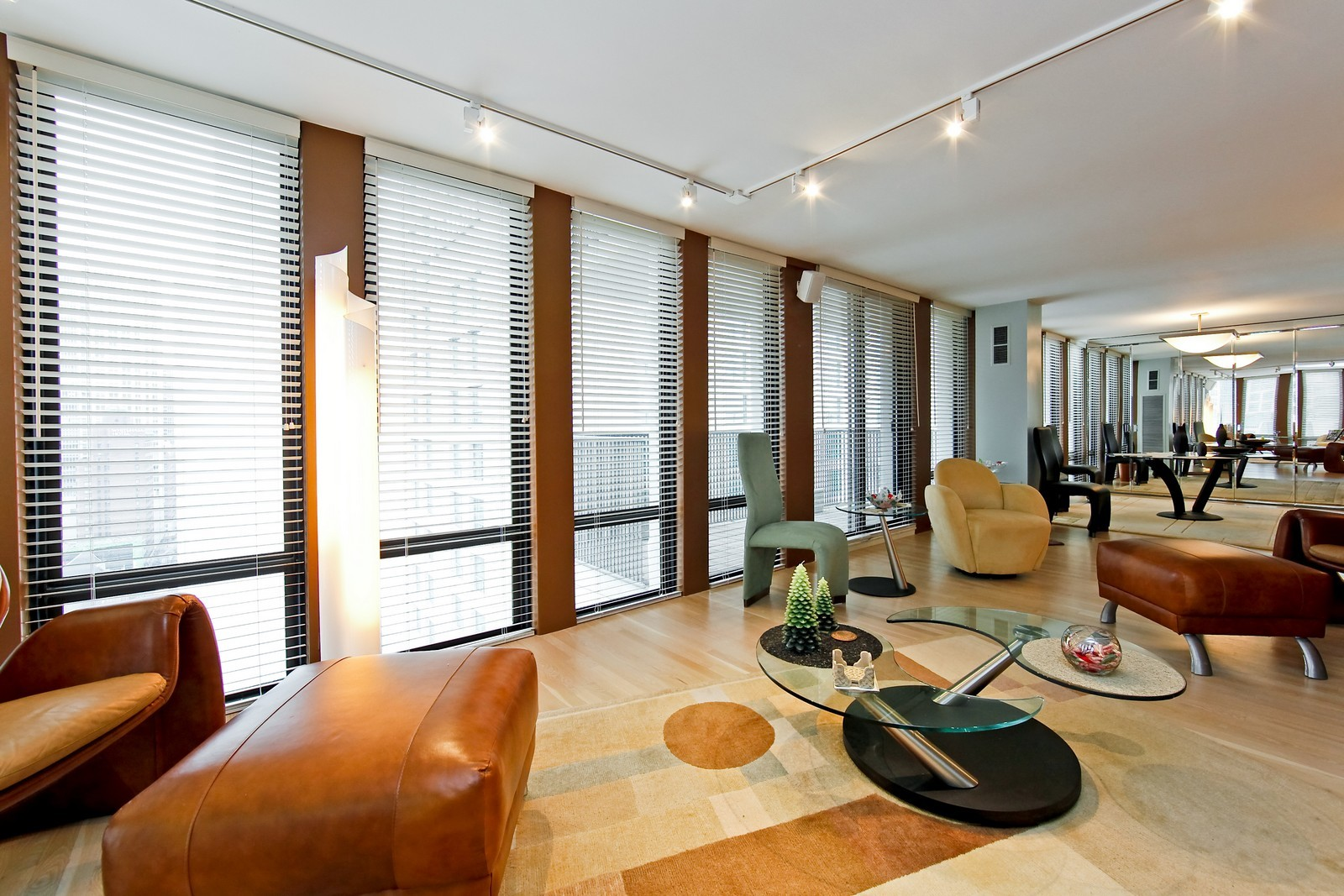 Real Estate Photography - 200 E Delaware Pl, 25F, Chicago, IL, 60611 - Living Room/Dining Room