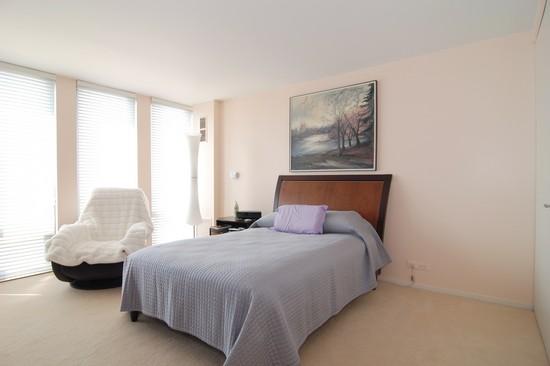 Real Estate Photography - 200 E Delaware Pl, 25F, Chicago, IL, 60611 - Bedroom