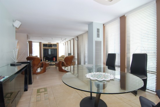 Real Estate Photography - 200 E Delaware Pl, 25F, Chicago, IL, 60611 - Living Room / Dining Room