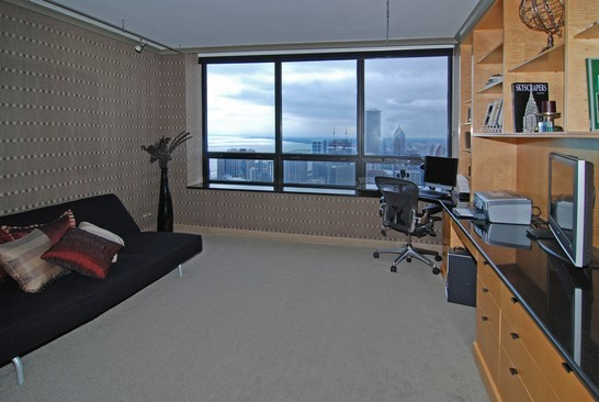 Real Estate Photography - 180 E Pearson St, 7106, Chicago, IL, 60611 - 2nd Bedroom