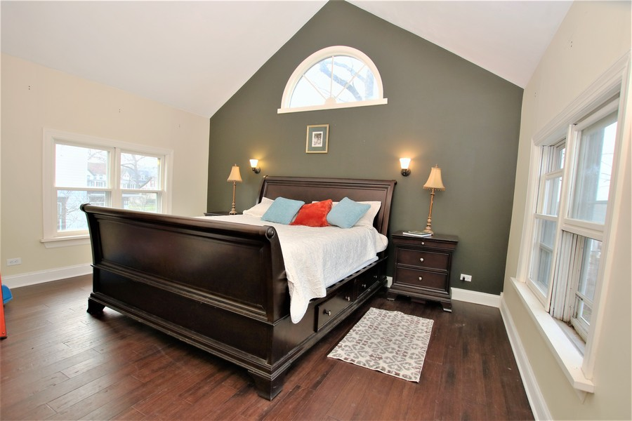 Real Estate Photography - 214 Oregon Avenue, West Dundee, IL, 60118 - Cathedral Master Bedroom