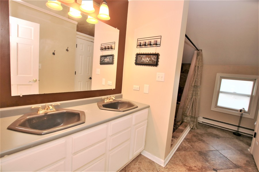Real Estate Photography - 214 Oregon Avenue, West Dundee, IL, 60118 - 2nd Floor Bath
