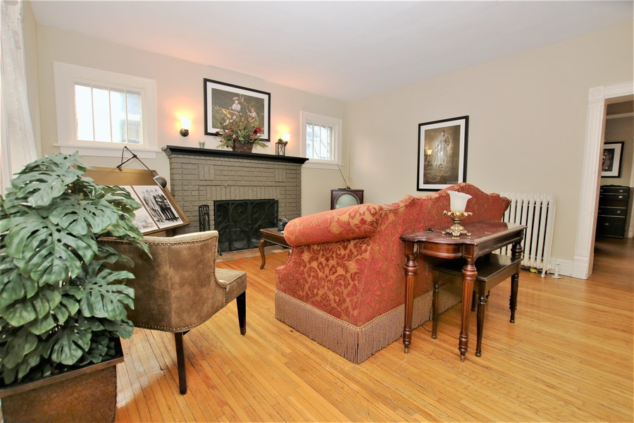 Real Estate Photography - 214 Oregon Avenue, West Dundee, IL, 60118 - Parlor with Fireplace