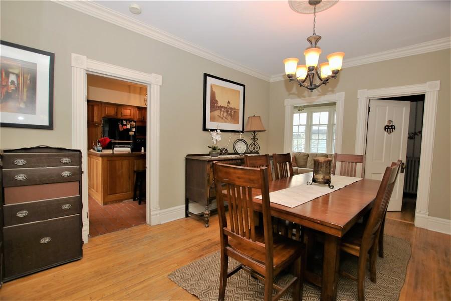 Real Estate Photography - 214 Oregon Avenue, West Dundee, IL, 60118 - Formal Dining with Crown Molding & Updated Light F
