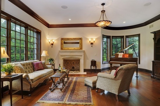 Real Estate Photography - 101 Countyline Rd, Barrington Hills, IL, 60010 - Living Room