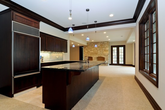 Real Estate Photography - 101 Countyline Rd, Barrington Hills, IL, 60010 - Lower Level 2nd Kitchen/Bar