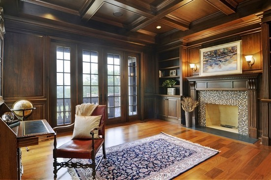 Real Estate Photography - 101 Countyline Rd, Barrington Hills, IL, 60010 - Library/Study