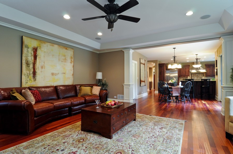 Real Estate Photography - 17 North Portshire Dr, Lincolnshire, IL, 60069 - Family Room / Kitchen