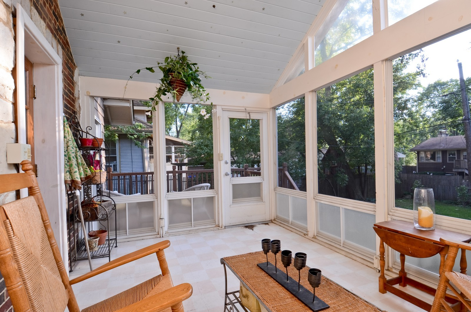 Real Estate Photography - 1124 Webster Ave, Wheaton, IL, 60187 - Sun Room Porch