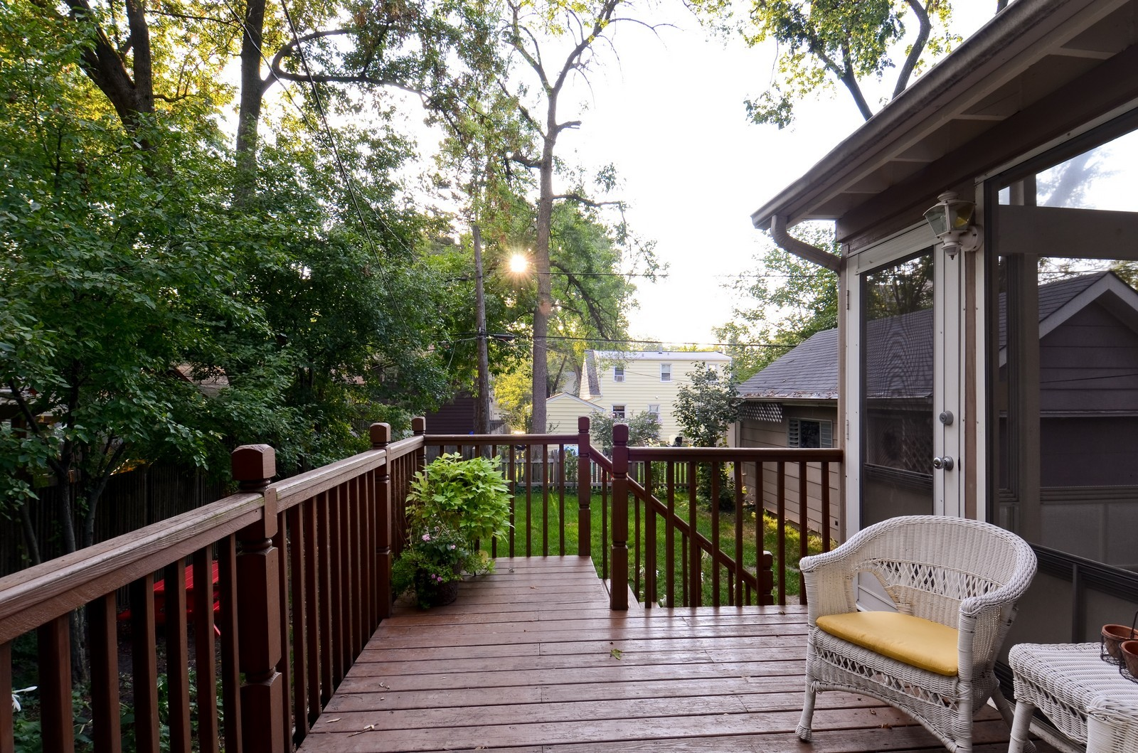 Real Estate Photography - 1124 Webster Ave, Wheaton, IL, 60187 - Deck