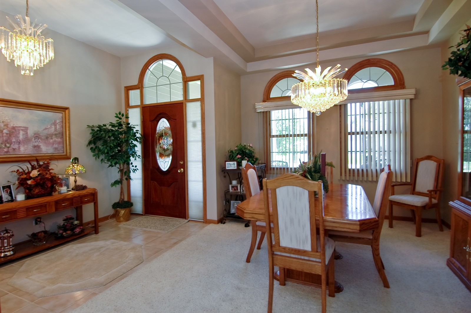 Real Estate Photography - 5307 Autumn Way, Johnsburg, IL, 60051 - Foyer/Dining Room