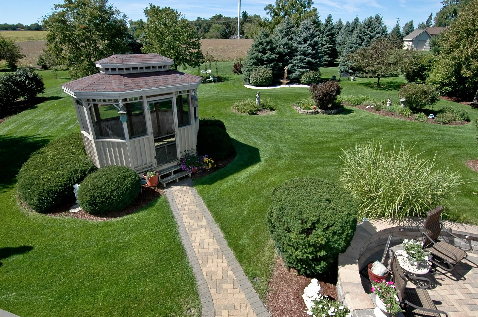 Real Estate Photography - 5307 Autumn Way, Johnsburg, IL, 60051 - Back Yard