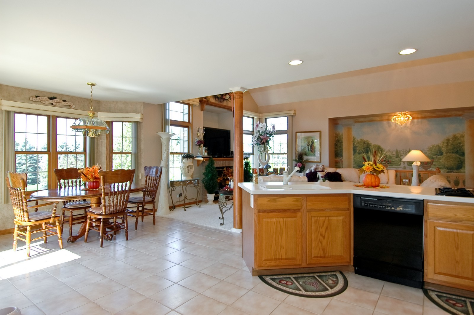 Real Estate Photography - 5307 Autumn Way, Johnsburg, IL, 60051 - Kitchen / Living Room