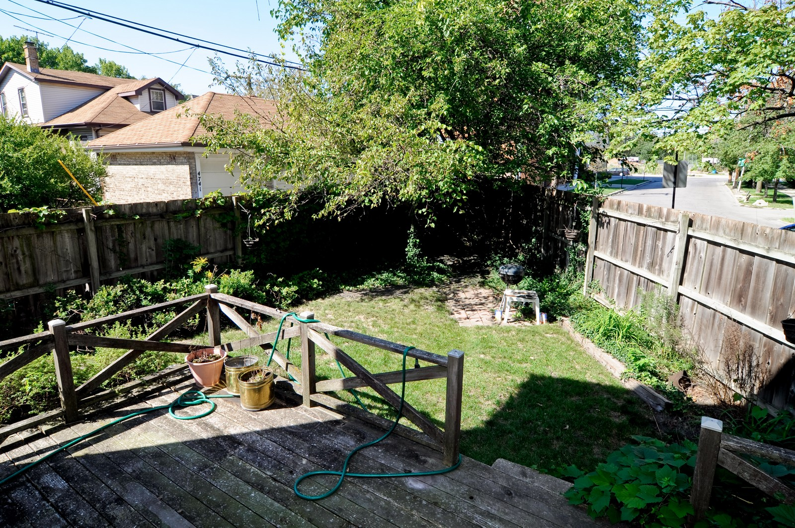 Real Estate Photography - 4750 N Manor Ave, Chicago, IL, 60625 - Back Yard
