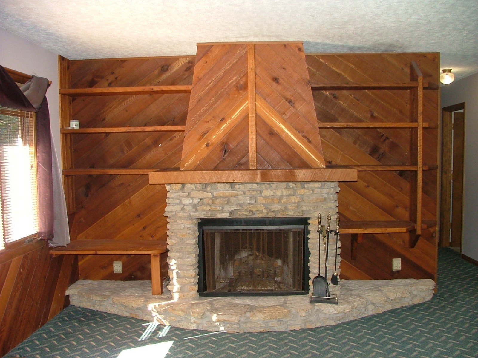 Real Estate Photography - 625 Konen Ave, Aurora, IL, 60505 - Family Room Fireplace