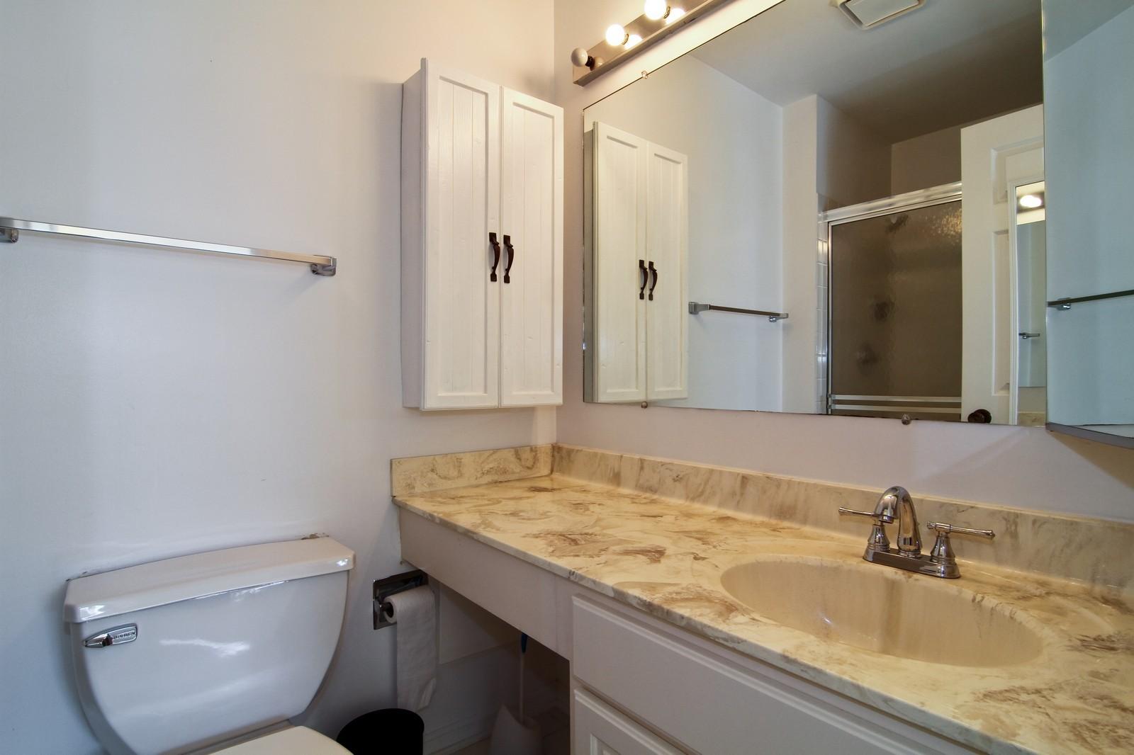 Real Estate Photography - 23 Glencoe Ct, Unit 202-B, Naperville, IL, 60565 - Bathroom